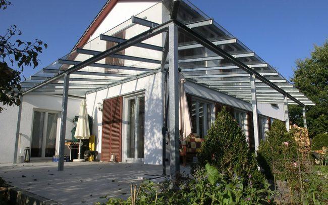 Stahl-Glas Terrassen Dach von Metallbau Firma in Deggendorf