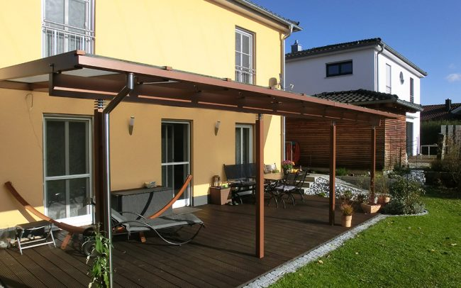 Terrassendach aus Stahl und Glas in Deggendorf